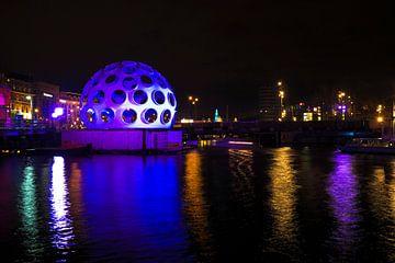 Licht festival in Amsterdam Nederland bij nacht von Nisangha Masselink