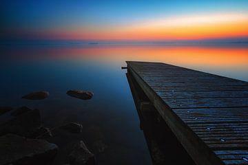 Sonnenuntergang im Zeewolde-Gerüst von Robin van Maanen