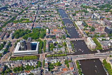 Vue aérienne du Pijp et de l'Amstel à Amsterdam sur Anton de Zeeuw
