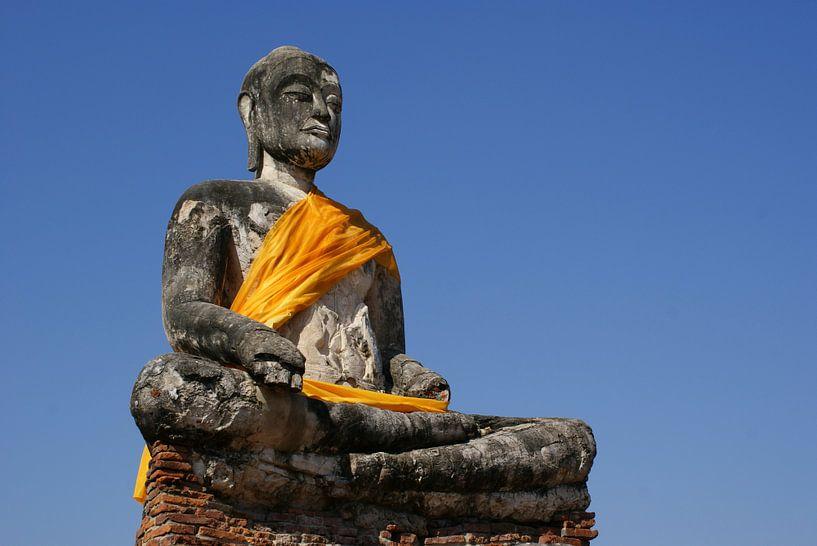 Boeddha in Ayutthaya van Sven Wildschut