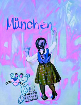 Motief Münchner Kindl - Roze en Blauw van Felix von Altersheim