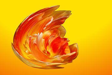 Geel Oranje Vuur Explosie  von
