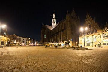 Grote Markt Haarlem met de Bavokerk van
