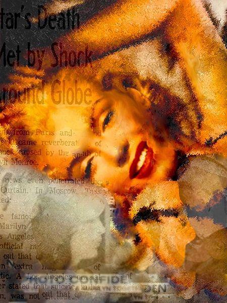 Marilyn Brush Marilyn Monroe | Marilyn Monroe Pop Art van Leah Devora