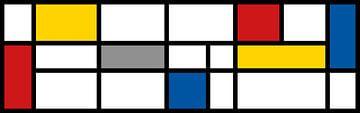 Piet Mondrian Hommage XL von Harry Hadders