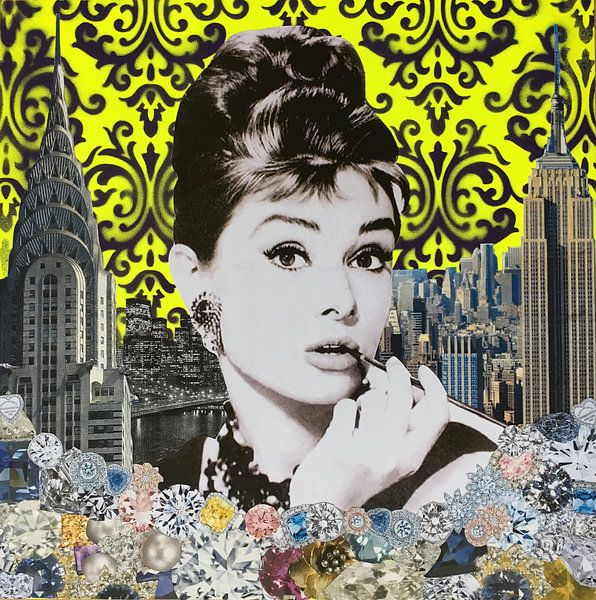 Audrey yellow, 2015, (mixed media) sur Anne Storno