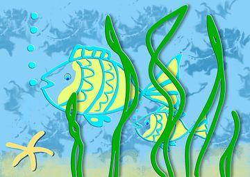 Fish underwater van Rosi Lorz