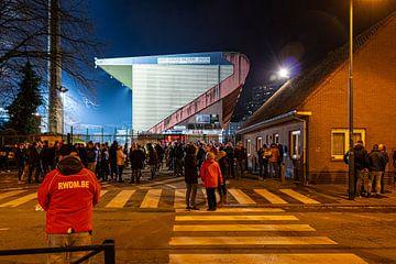Het Edmond Machtens Stadion van RWDM van Martijn Mureau