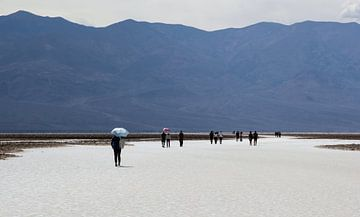Badwater (Death Valley) van Nico Olsthoorn