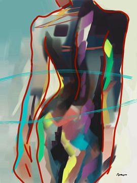 Körper einer Frau / Flamboyant. von Alies werk
