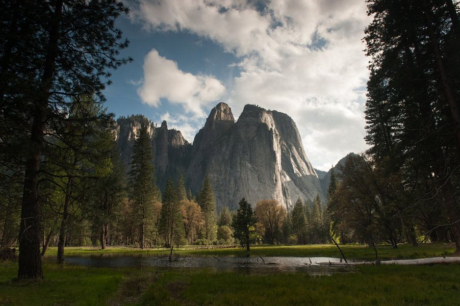Yosemite park, zicht op El Capitan