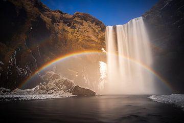 Skogafoss waterfall van Wojciech Kruczynski