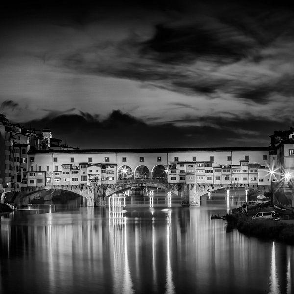 FLORENCE Ponte Vecchio bij zonsondergang van Melanie Viola