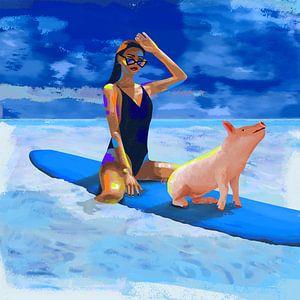 Surfchick with friend