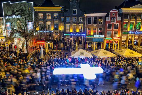De processie van het evenement The Passion in Groningen