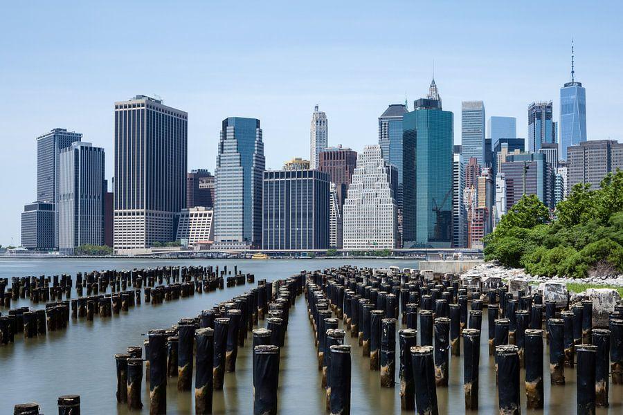 Skyline New York City van Bart van Dinten
