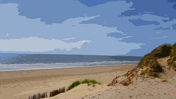 Strand Ameland van Danny jacobs