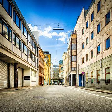 Straatje in Aarhus van Tony Buijse
