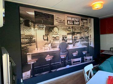 Kundenfoto: Retro- Art des amerikanischen Restaurants von Inge van den Brande