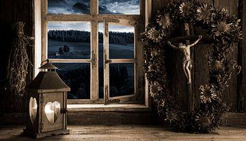 Bauernstube im Kerzenschein von Jürgen Wiesler