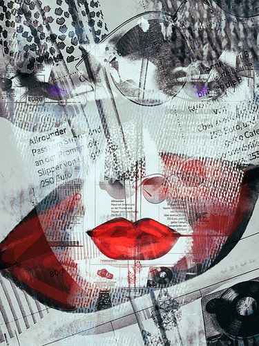 Simply red lips van Gabi Hampe