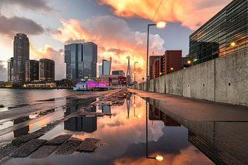 Zonsondergang bij Kop van Zuid (Rotterdam) von
