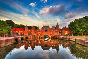 historischer Hafen von Amersfoort von Watze D. de Haan