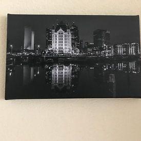 Photo de nos clients: Le vieux Port à Rotterdam sur MS Fotografie | Marc van der Stelt, sur toile