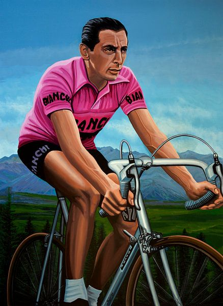 Fausto Coppi Malerei von Paul Meijering