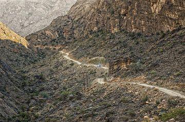 Offroad rijden door Jebel Shams van Karin Mooren