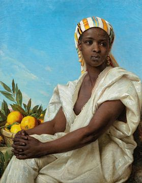 Porträt einer schwarzen Frau, Émile Vernet-Lecomte
