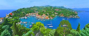 Portofino Panorama - Italienische Riviera - Italien von Dirk van der Ven
