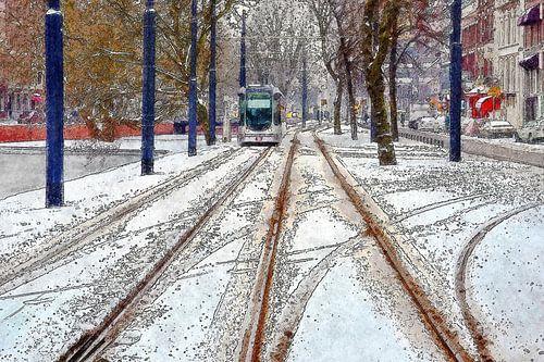 Winter op de Mauritsweg