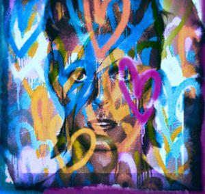 David Bowie Love Pop Art PUR