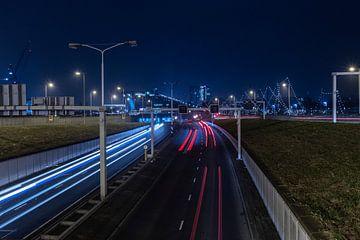 IJ-tunnel by night van Andrew van der Beek