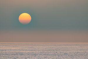 Zonsondergang over de zee van videomundum