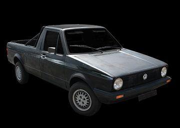 VW Caddy 1 (Type 14D) in originele kleur van aRi F. Huber