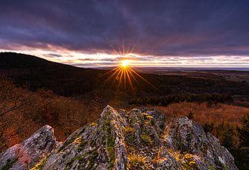 Sonnenuntergang im Taunus von Christian Klös