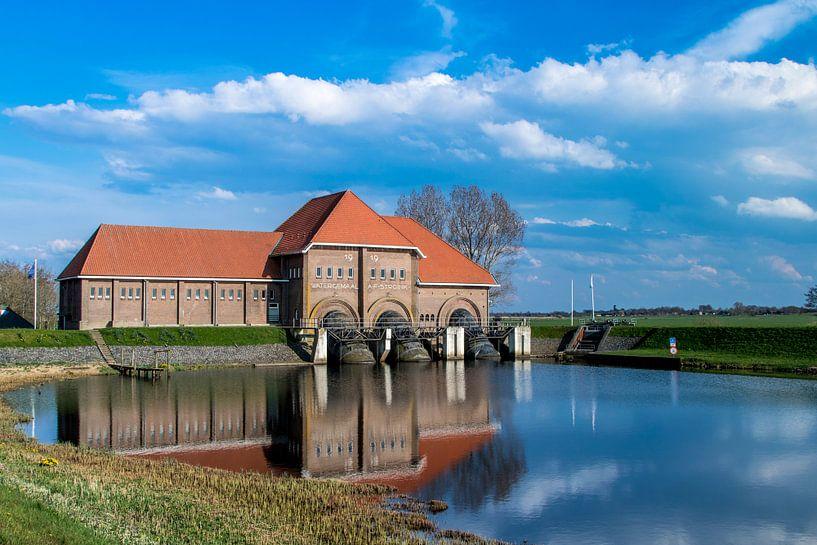 Hollands watergemaal Vollenhove  van Marcel Runhart