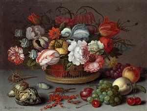 Mand met bloemen, Balthasar van der Ast