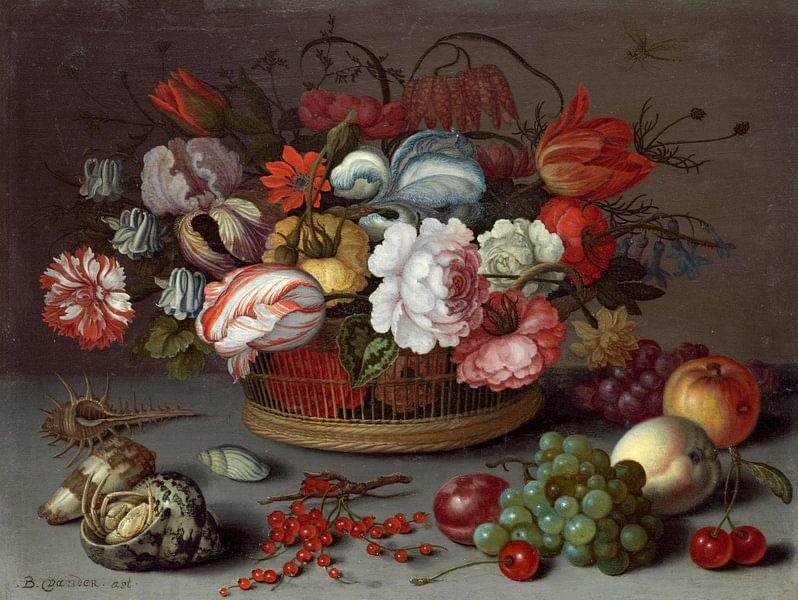 Korb mit Blumen, Balthasar van der Ast von Meesterlijcke Meesters