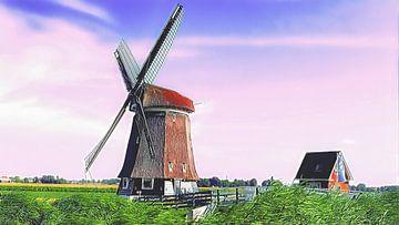 Poldermolen Obdam van Digital Art Nederland
