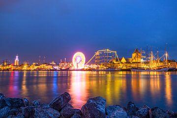 Sehen Sie auf den historischen Segelnschiffen in dem Fluss IJssel während des Ereignisses Sail Kampe von Sjoerd van der Wal