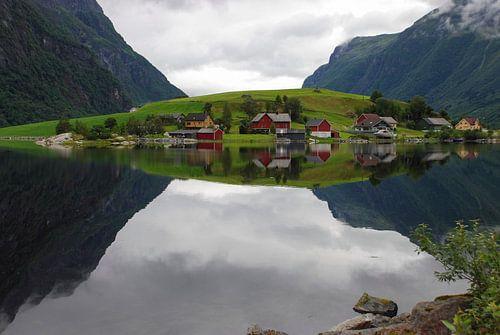 De mooiste Fjord Spiegel / The most beautiful Fjord mirror von Mark Veen