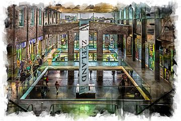 Winkelcentrum De Zeeland in Bergen op Zoom (kunst) van Art by Jeronimo