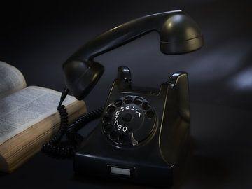 le bon vieux temps du téléphone à cadran rotatif sur Jan Fotografie