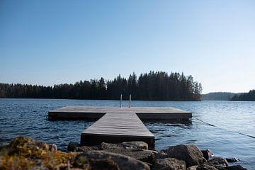 steiger in het meer von Nienke Stegeman