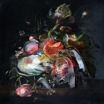 Stilleben mit Blumen von Jacco Hinke
