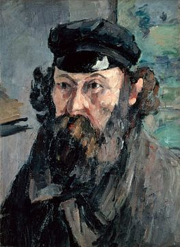 Zelfportret in een Casquette, Paul Cézanne