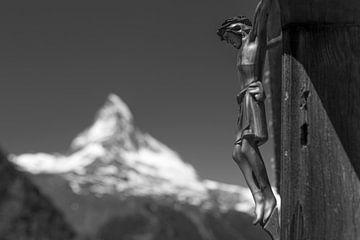 Christus mit Matterhorn von Menno Boermans